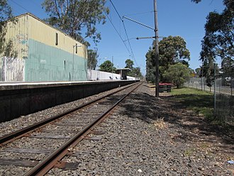 Schofields railway station - Eastbound view of the former station in November 2009