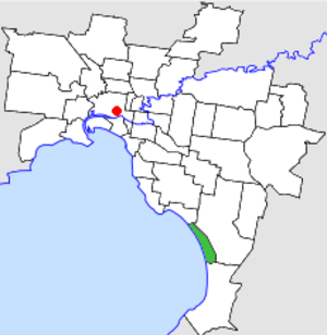 City of Chelsea - Location in Melbourne