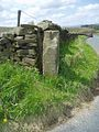Old milestone at Four Lane Ends - geograph.org.uk - 57068.jpg