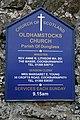 Oldhamstocks Church board - geograph.org.uk - 1764359.jpg