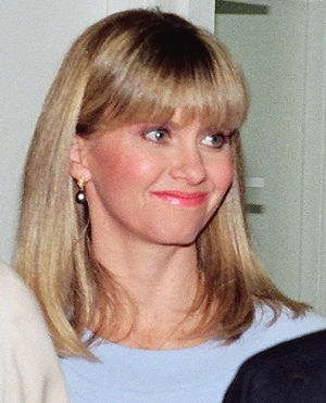 Olivia Newton-John - Newton-John at the opening of a Koala Blue store in 1988