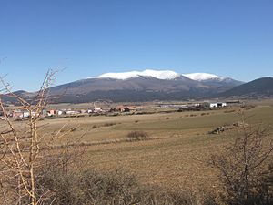 Moncayo Massif - Moncayo seen from Ólvega.