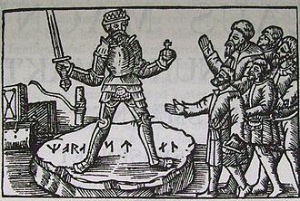Stones of Mora - Image: Om konungaval. Olaus Magnus