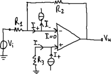 Operational amplifier with non-ideal input current.png
