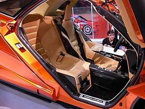 McLaren F1 - The three seat setup inside an F1