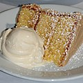 Orange chiffon cake and ice cream at a restaurant.jpg