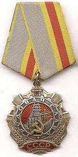 Order of Labour Glory Soviet civilian award