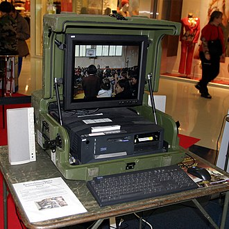 Portable computer - Modern military-type mobile computer housed in a reinforced case
