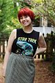 Original Star Trek Shirt with a Houndstooth Skirt & Red Pixie Cut.jpg