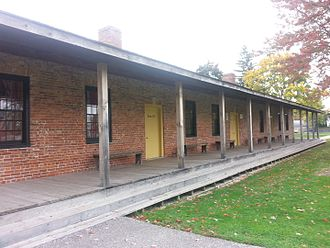 Fort Malden - The single-storey Brick Barracks were built in 1820