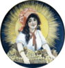 Original Sun-Maid Girl painting by Fanny Scafford, 1915