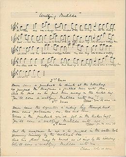 Original Waltzing Matilda manuscript.jpg
