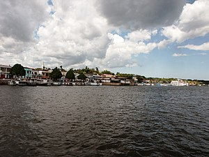 Trombetas River - The city of Oriximiná on the banks of the Trombetas near its confluence with the Amazon