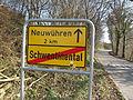 Ortsausgangsschild Schwentinental Neuwührener Weg.jpg