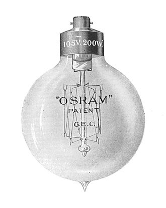 Osram - Osram lamp of 1910, high candle-power type