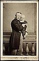 Overrettssaksfører Baldur Fridtjof Nansen (1817-1885) med sønnen Fridtjof Nansen (1861-1930) på armen, ca 1862 (10993449974).jpg
