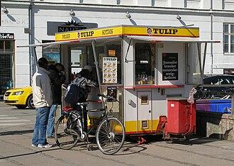 Pølsevogn - Pølsevogn at Nørrebro in Copenhagen.