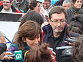 P1180577 Yolanda Díaz, César Santiso, Manifestación xuízo Prestige.JPG