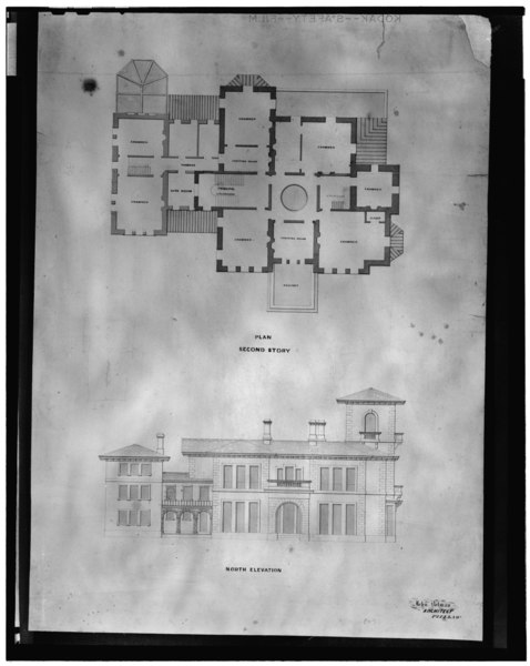 Floor Front Elevation Jersey : File photocopy of original drawings including front