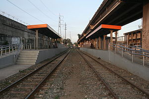 Pandacan railway station - Trackbed and platform area of Pandacan station