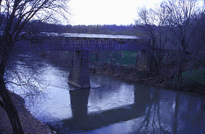 Port Royal State Park - Covered bridge before its destruction.