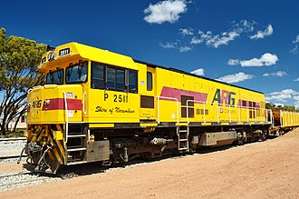 Australian Railroad Group - P2511 in QR National ARG livery at Goomalling  in October 2013