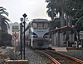 Pacific Surfliner at San Clemente Pier station, July 2011.jpg