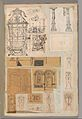 Page from a Scrapbook containing Drawings and Several Prints of Architecture, Interiors, Furniture and Other Objects MET DP372143.jpg