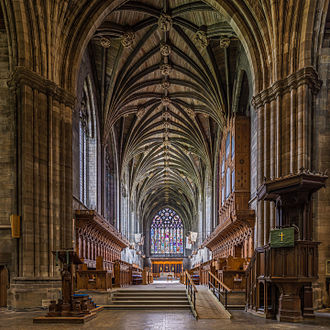 Paisley Abbey - The choir, organ, and great East Window