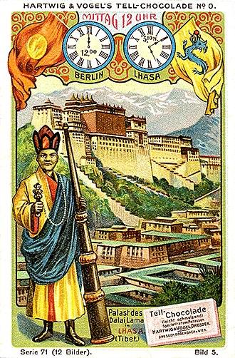 Flag of the Qing dynasty - Image: Palast des dalailama