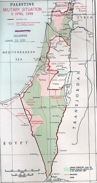 1949 Armistice Agreements - Palestine Military Situation, April 6, 1949. Truman Papers
