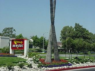 In-N-Out Burger - Example of In-N-Out's crossed palm trees
