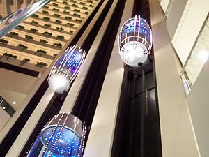 The Pan Pacific Singapore - Image: Pan Pacific Singapore Elevators