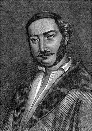 Panagiotis Soutsos - Woodcut of Panagiotis Soutsos (1873)