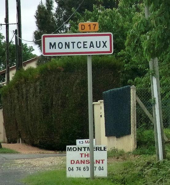 Panneau entrée Montceaux.