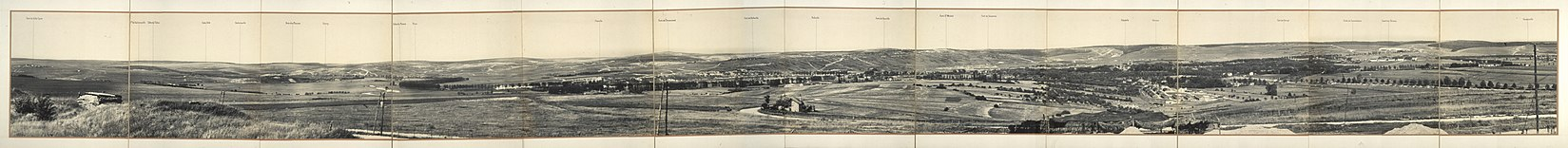 Panorama de Verdun, vue prise du Fort de la Chaume, 1917