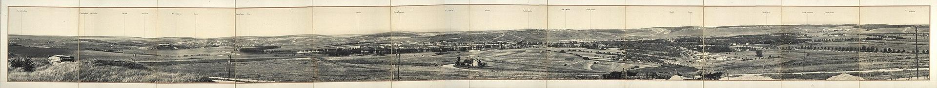 Panorama de Verdún desde Fort de la Chaume