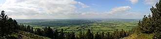 Tipperary (town) - Image: Panorama tipperary silvermines mountains