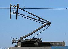 Die Geschichte des elektrischen Antriebs von Schienenfahrzeugen 220px-Pantograaf_lichtrail