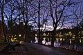 Parc Tenreuken looking South from the West side during the sunset civil twilight, Auderghem, Belgium (DSCF3745,DSCF3746-b1).jpg