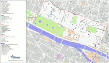 annotated map of the 1st arrondissement of paris generated for a guide to travel of wikitravel from openstreetmap data