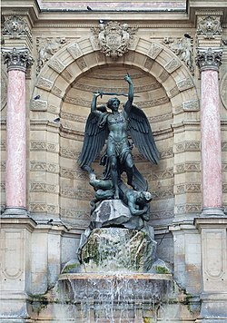 Image result for place saint michel fountain in paris