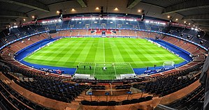 Football in France - Parc des Princes is home stadium of club Paris Saint-Germain.