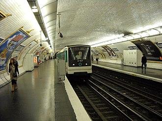Marcel Sembat (Paris Métro) - Image: Paris metro Marcel Sembat 2