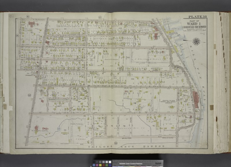 File:Part of Ward 1. (Map bound by N. Burgher Ave (Burgher), Richmond Terrace, Pierhead Line, Kissel Ave, Henderson Ave, Bard Ave, Castleton Ave, Fairmount Ave, Pelton Ave (Hill St), Oakland Ave, NYPL1646327.tiff