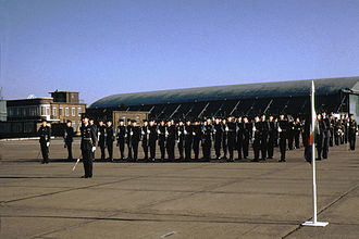 RAF Swinderby - Passing out parade in November 1971.