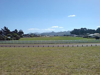 Pauanui - The Pauanui airfield, with aircraft parked almost in the backyards of properties.