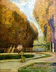 Trois femmes dans le parc de Versailles