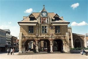 Peterborough (UK Parliament constituency) - The Guildhall, Cathedral Square (1669–1671), site of the former Market Place.