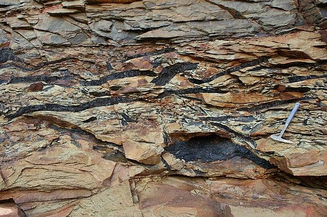 Bridličnatý vzhľad horniny